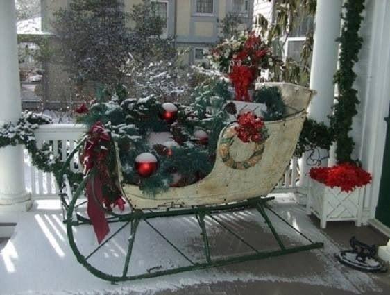 Best christmas sleigh images on pinterest xmas