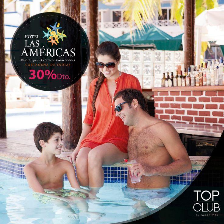 Libera tu inspiración en el Hotel Las Américas - Cartagena y aprovecha esta increíble oferta del 30% de descuento en alojamiento para afiliados TopClub.