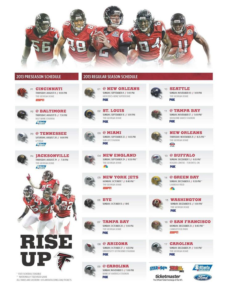 Atlanta Falcons Schedule 2014 2015 | Planet of the Sanquon