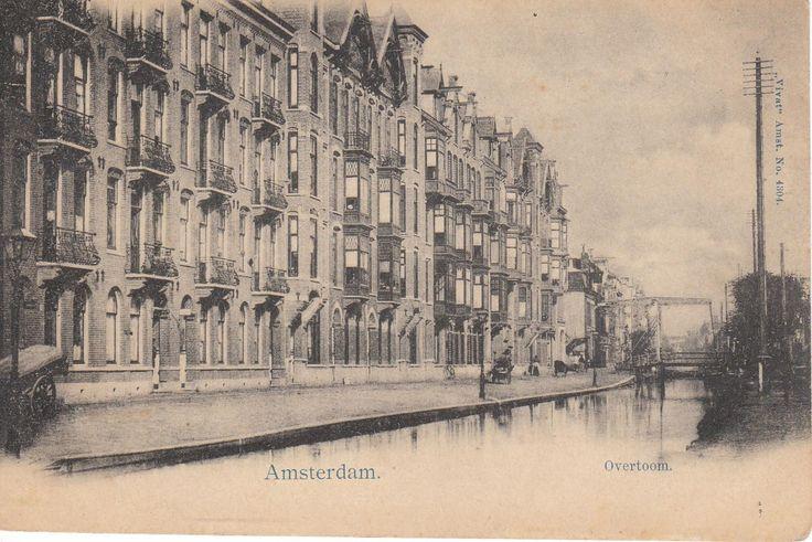 Amsterdam De Overtoom voor de demping in 1907.