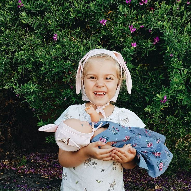 Cheesy grins and matching bonnets. It doesn't get much cuter. All our bonnets are available in dolly sizes . They make a perfect stocking stuffer or present