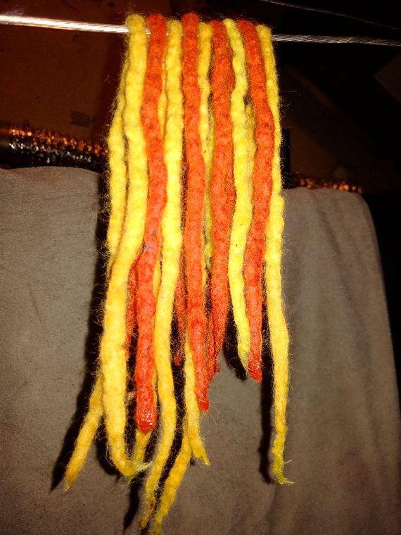 Bekijk dit items in mijn Etsy shop https://www.etsy.com/nl/listing/292558183/yellow-red-dreads