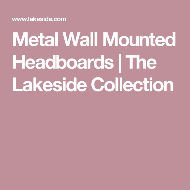Metal Wall Mounted Headboards|The Lakeside Collection