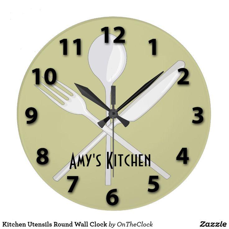 Kitchen Utensils Round Wall Clock 19 best