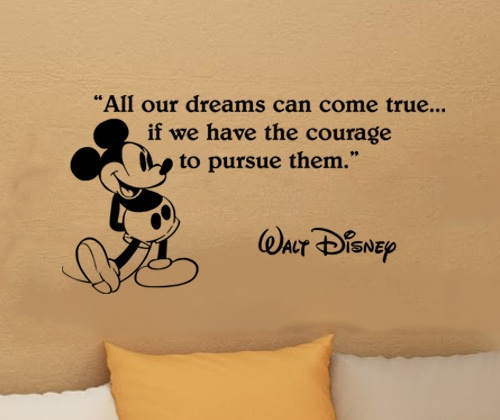 Details about Disney Mickey Mouse dreams come true wall quote vinyl wall  art decal sticker