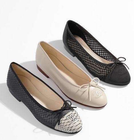Chanel Calfskin Ballerina Flats