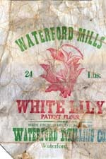 White Lily Flour Sack from the Waterford Mill, Waterford, VA.  We couldn't bake without White Lily or Martha White.