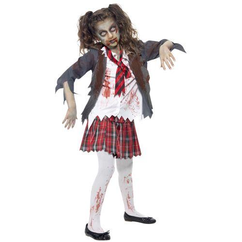Zombie School Girl Costume, Grey, Tartan Skirt, Jacket, Mock Shirt. http://www.novelties-direct.co.uk/Zombie-School-Girl-Costume-Grey-Tartan-Skirt-Jacket-Mock-Shirt-Tie.html