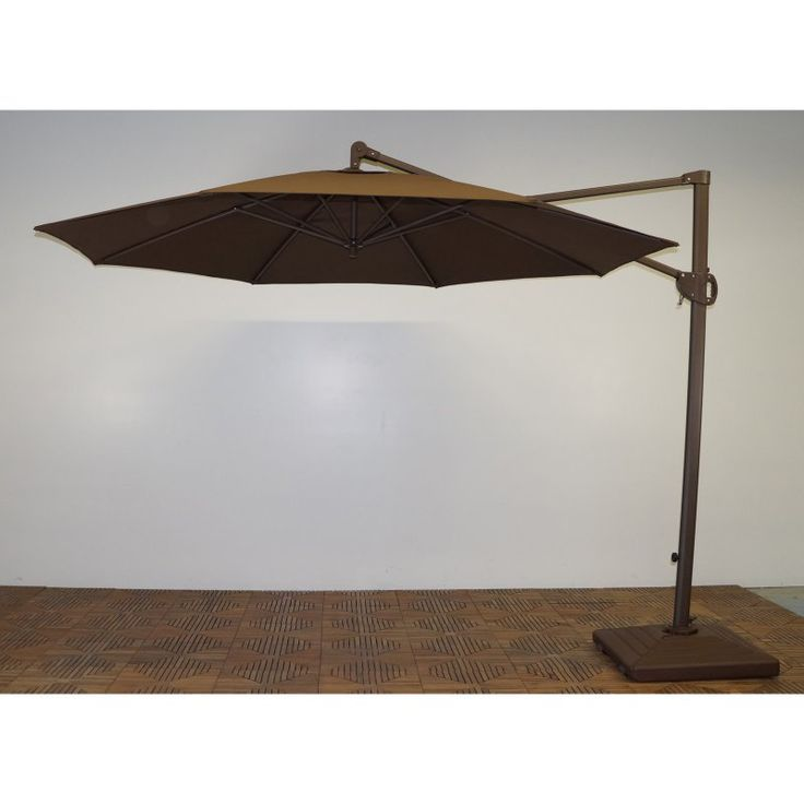 Shade Trends 11 ft. Trigger Lift Cantilever Offset Umbrella Kona Brown - M952RB-110