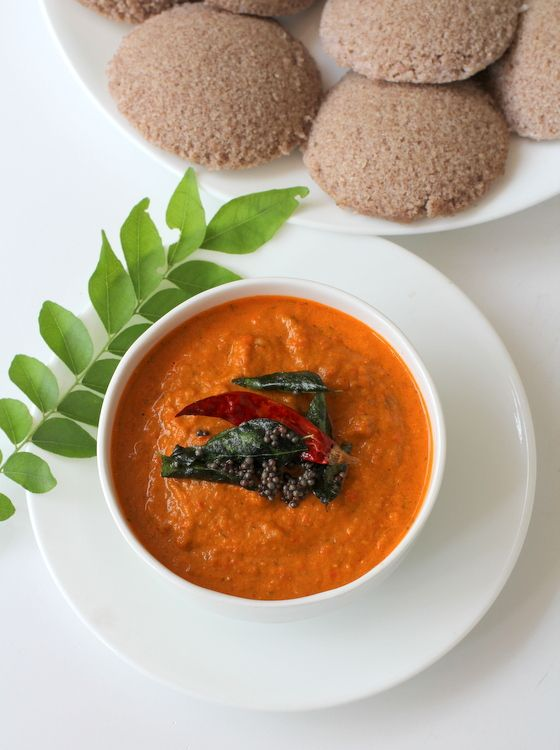 Red Bell Pepper Tomato chutney. A gem among South Indian vegetarian recipes. Its versatile and works as a dip or spread.