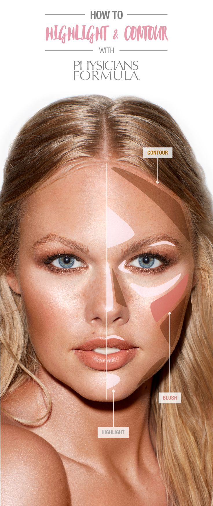 How To: Add contour, blush and highlight | Physicians Formula