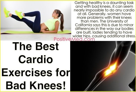 The Best Cardio Exercises for Bad Knees Getting healthy is a daunting task and with bad knees, it can seem nearly impossible to do any cardio at all. Generally, women have more problems with their knees than men. The University of California says this is due to minor differences in the way our bodies are…