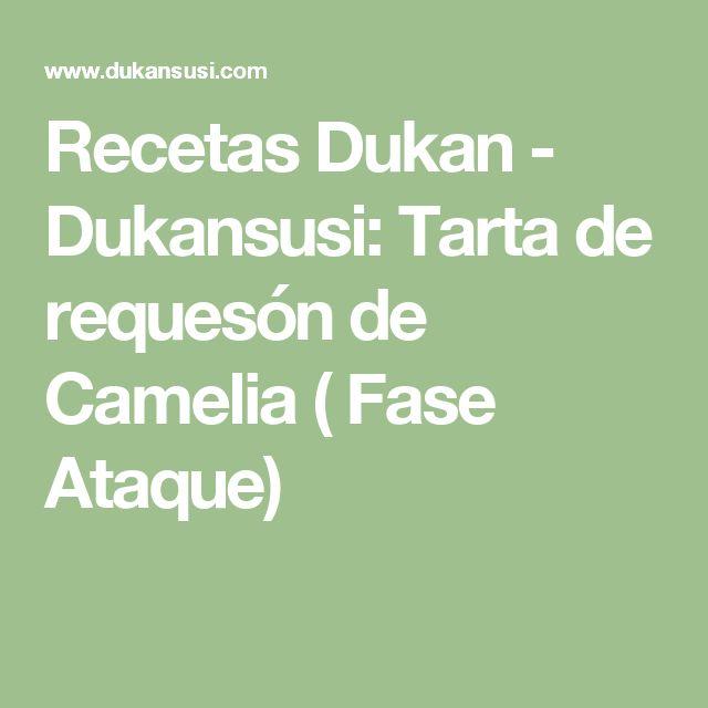 Recetas Dukan - Dukansusi: Tarta de requesón de Camelia ( Fase Ataque)