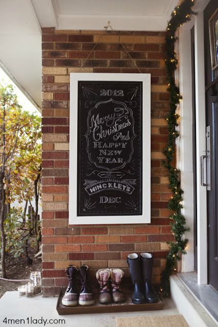 front patio chalk board! Cute idea! Teens would love this!