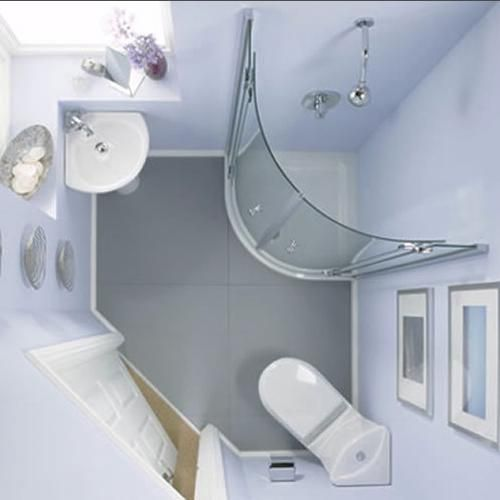 Corner bathroom sinks creating space saving modern - Bathroom shower designs small spaces ...