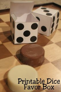 Free Printable Dice Party Favor Box