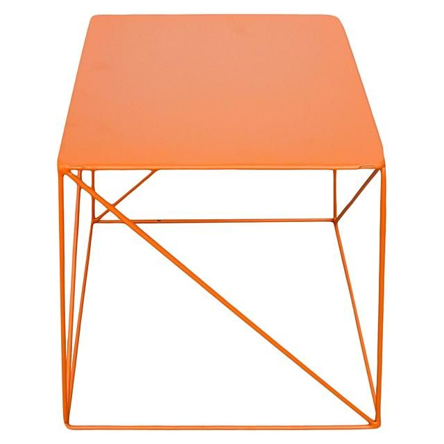 Soundslike HOME Ironrod orange side table. A sleek shape with a crossbar feature adding interest.
