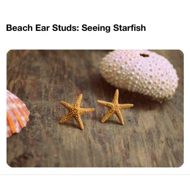 Cute Earrings I want these after watching aqua marine(: