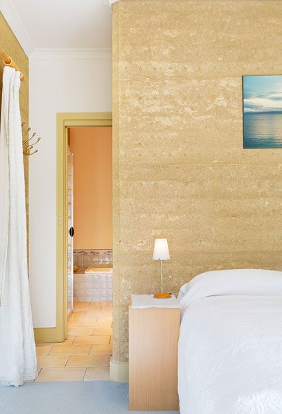 Beach Style Rammed Earth Feature Wall