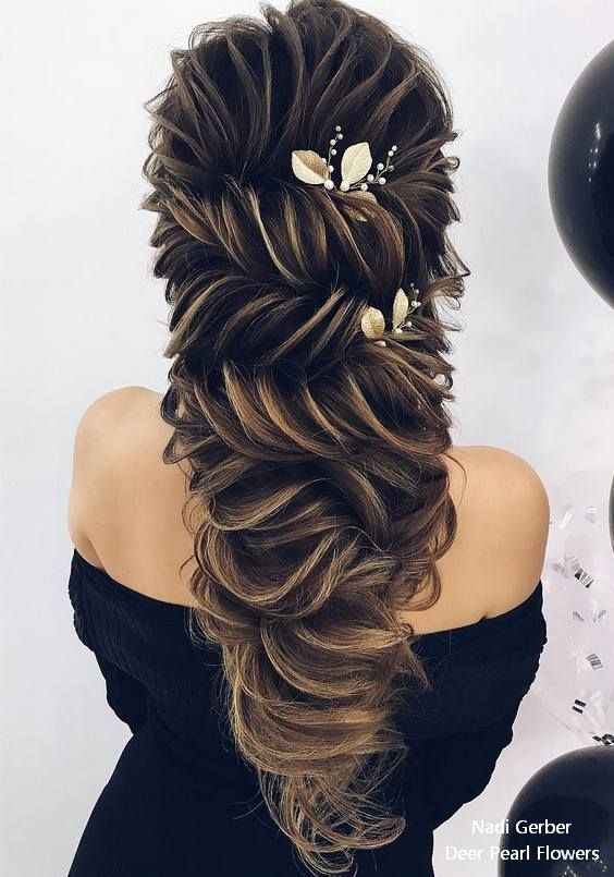 Nadi Gerber Long Wavy Wedding Hairstyles # Weddings # Hairstyles # Wedding