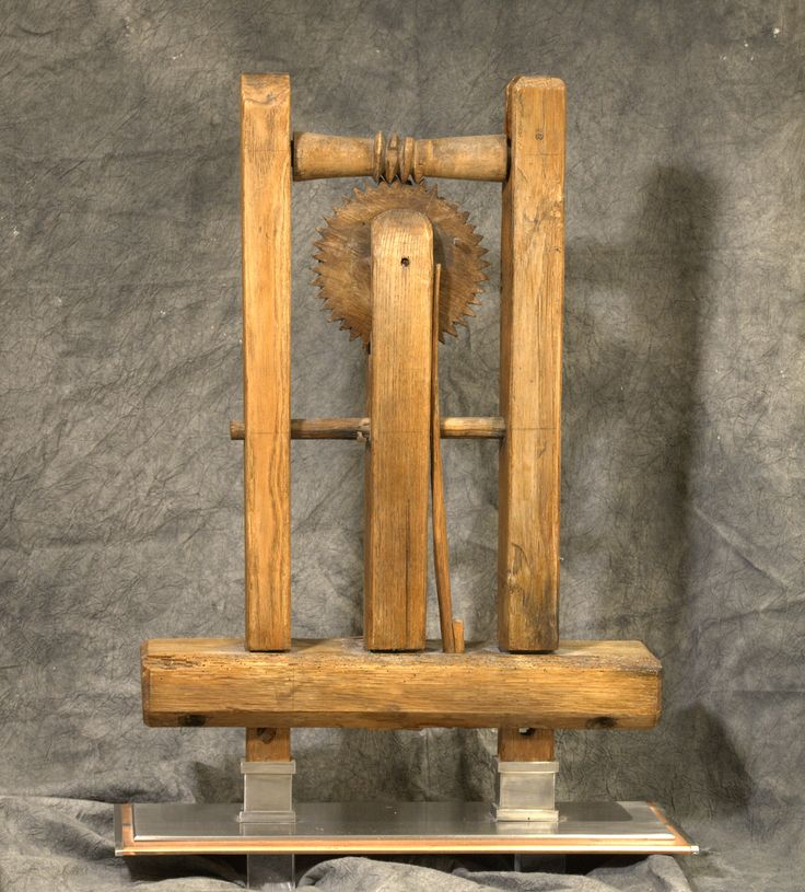 """When I bought this, it was tired and broken and I had no idea what it was.  Several years later, I saw another one and it was labeled """"wool winder'.  Obviously pieces were missing from mine!  I repaired what I could, removed the legs, stained and lightly coated it with satin urethane.  David Simpson made the stainless legs and stainless and copper base.  The whole thing sits on plexiglass legs so it looks like it floats.  The metal makes it very heavy!"""