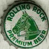 Rolling Rock Premium Beer, bottle cap | Latrobe Brewing Co., Latrobe, Pennsylvania USA | cap used 1964-1967