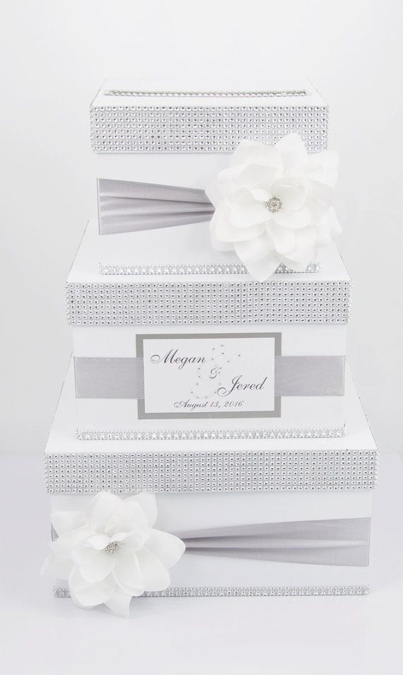 Exclusive handmade 3 tier card box with personalized Beautiful and original  Makes an impression on each.    Box dimensions:  18 x 12    After order