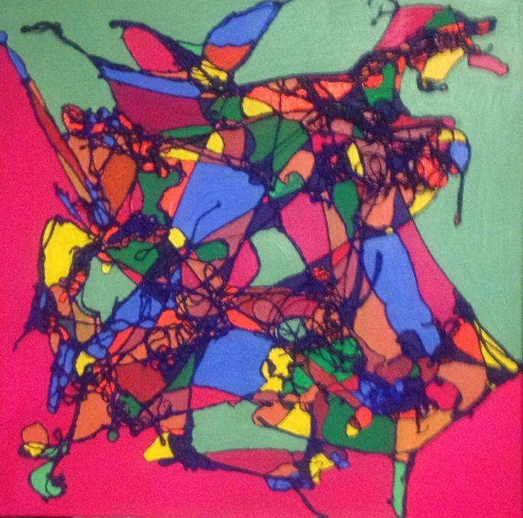 #kim Wilkie's string art sneak peak. 2014