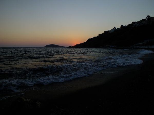 Linaria beach just after sunset