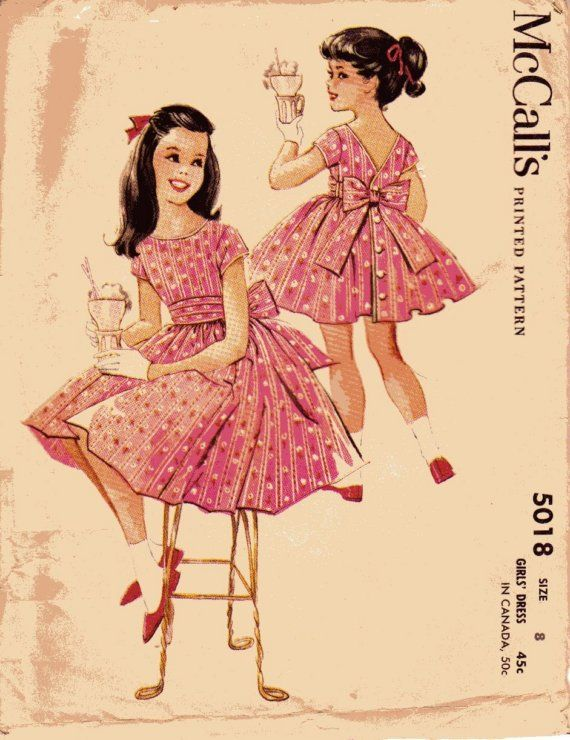 M5018 by Helen Lee, 1959-I wore dresses that looked just like this one.