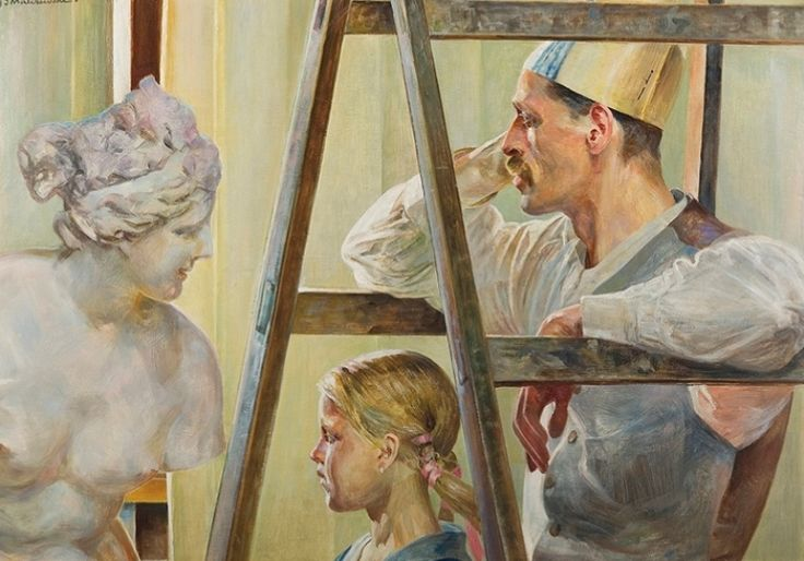 Jacek Malczewski - The painter's studio (1919)