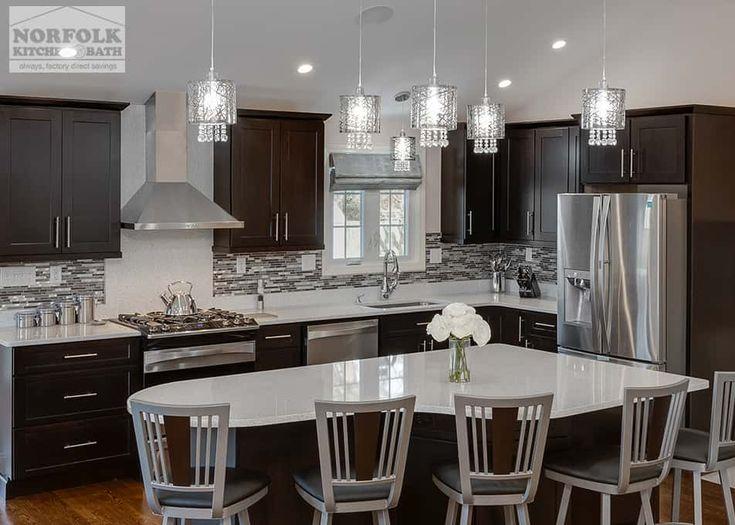 Classy Modern Kitchen With Quartz   Norfolk Kitchen U0026 Bath