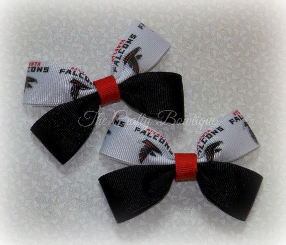 Atlanta Falcons Bow  Atlanta Falcons by TandRCraftyBowtique