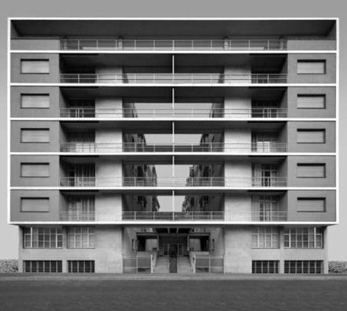 pietro lingeri e giuseppe terragni - casa rustici. corso sempione, milano, 1935