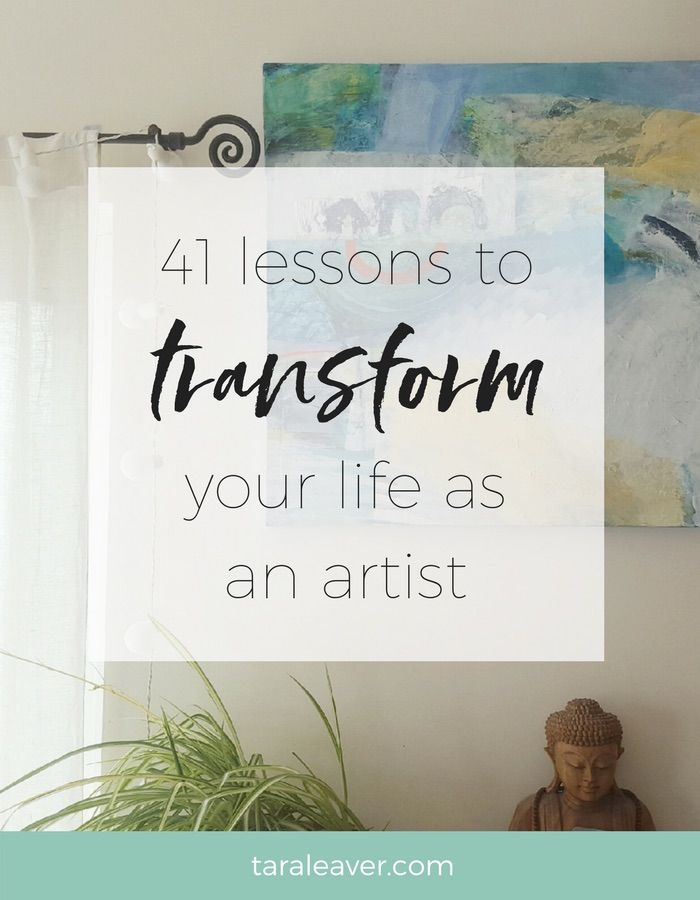 41 lessons to transform your life as an artist - real life artists of all kinds share their wisdom, from the profound to the hilarious