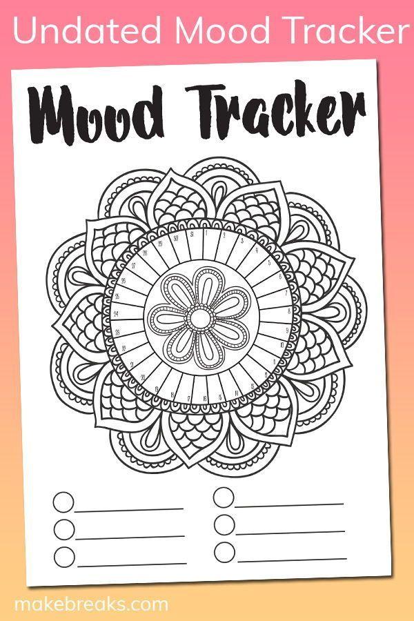 Free Undated Mandala Mood Tracker Tracking Page Make Breaks Bullet Journal Mood Mood Tracker Bullet Journal Inspiration