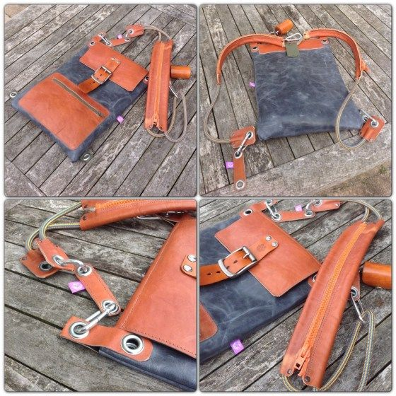 Handmade leather bag by TheCrazySmile