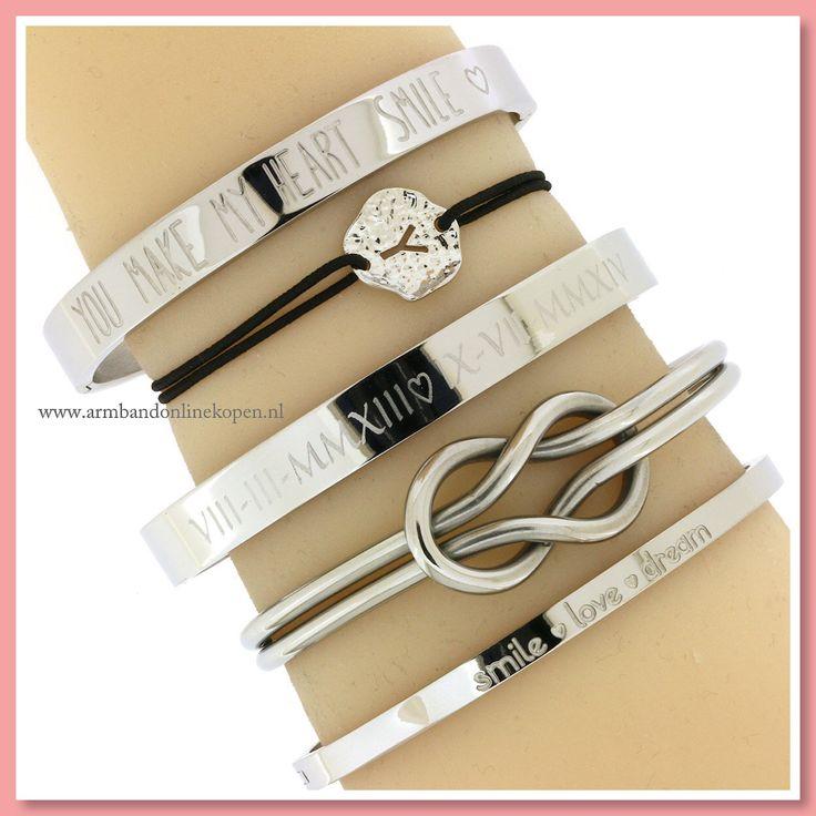 ❤ Leuk cadeau voor je allerliefste ❤ Super cute armband met jouw speciale liefdes datum gegraveerd in romeinse cijfers - www.armbandonlinekopen.nl