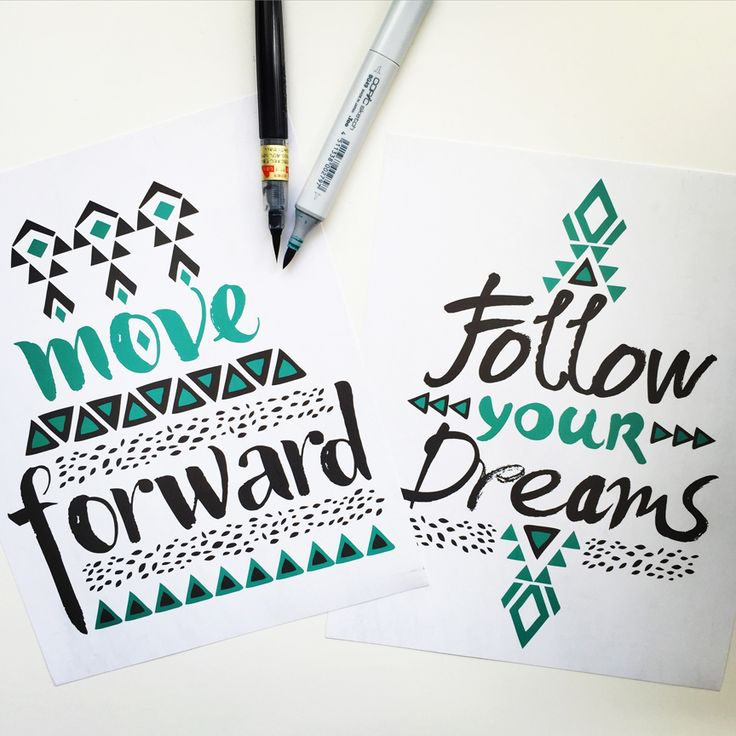 Inspirational Quotes By Pom Graphic Design Etsyme