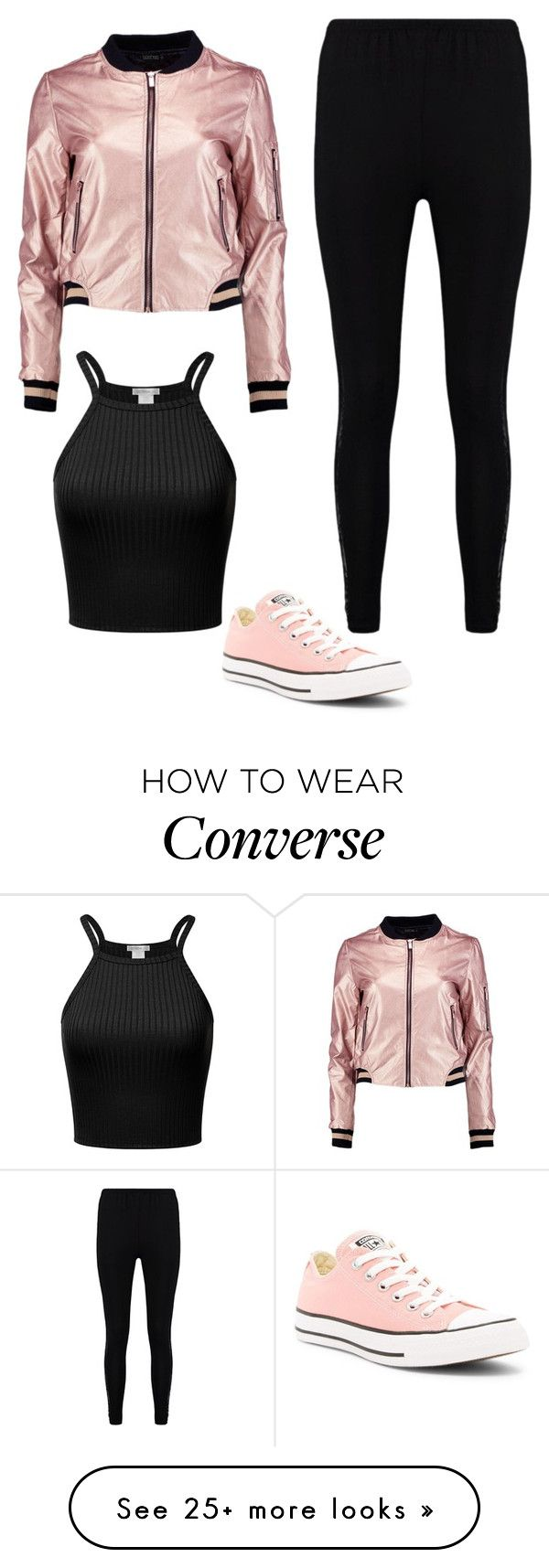 """Sin título #654"" by paolalopez242 on Polyvore featuring Converse and Boohoo"