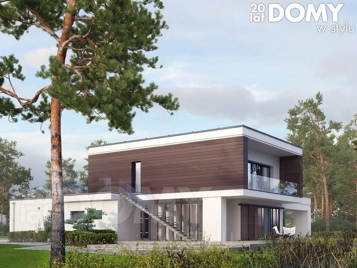 Asteria (200,71 m2) to projekt domu dwukondygnacyjnego o nowoczesnym charakterze. Projekt charakteryzuje się licznymi tarasami, zarówno na parterze jak i na piętrze. Pełna prezentacja projektu znajduje się na stronie: https://www.domywstylu.pl/projekt-domu-asteria.php. #projekty domów #projekty gotowe #domywstylu #mtmstyl #domy #design #style #domy piętrowe #architektura #home #houses