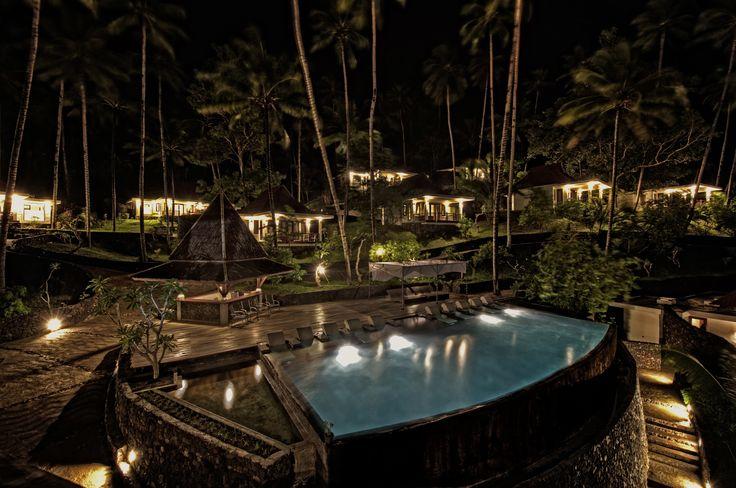 Dabirahe Infinity Pool at nighttime    #dabirahe #spa #dive #bitung #fun #travel #lembehhills #resort