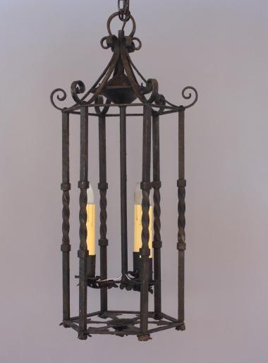 5408. 1929 Wrought Iron Pendant, Antique Chandeliers, Antique and Spanish Revival Lighting: Sconces,Chandeliers etc. at Revival Antiques