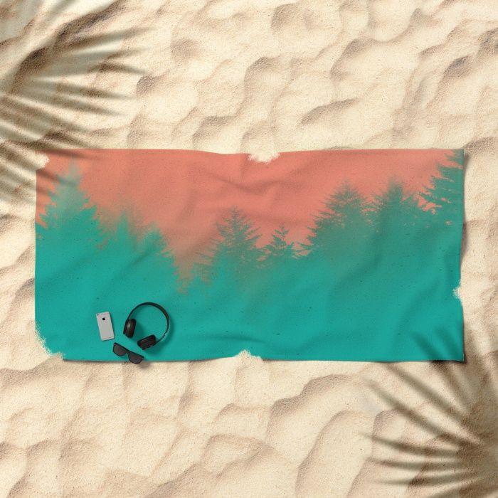 Wanderlust Morning Beach Towel by REALITY Studios   Society6