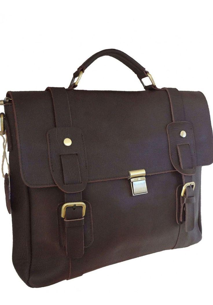 LeVan -- Top Grain Cowhide Leather Business/Messenger Bag