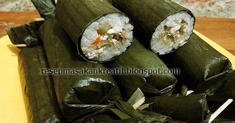 Resep Lontong Isi Ayam & Sayuran  - Cara membuat arem-arem isi sayuran gurih daging ayam atau lontong yang diberi isi kentang dan wortel ...