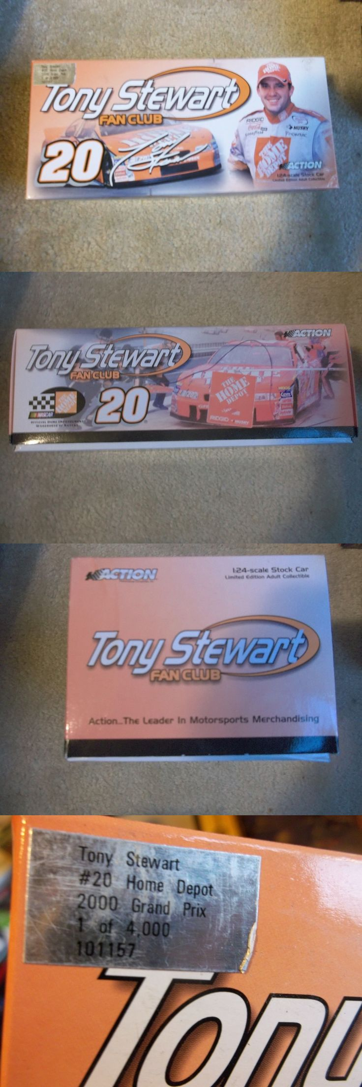 Formula 1 Cars 180270: 2000 Tony Stewart Home Depot Autographed Fan Club Car Action 1 24 Cwc -> BUY IT NOW ONLY: $75 on eBay!