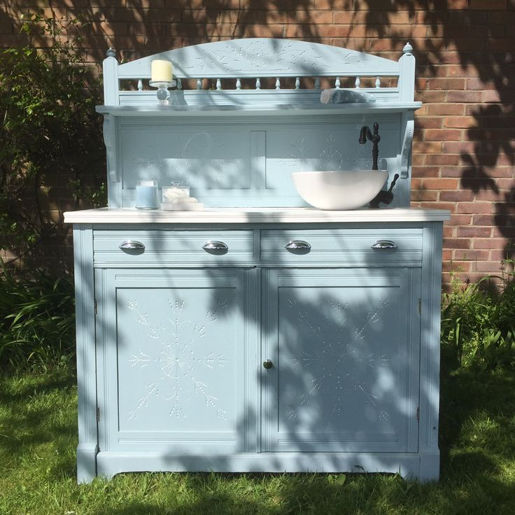 Beautiful vintage vanity with carved detail - Reloved by Jo www.relovedbyjo.co.uk