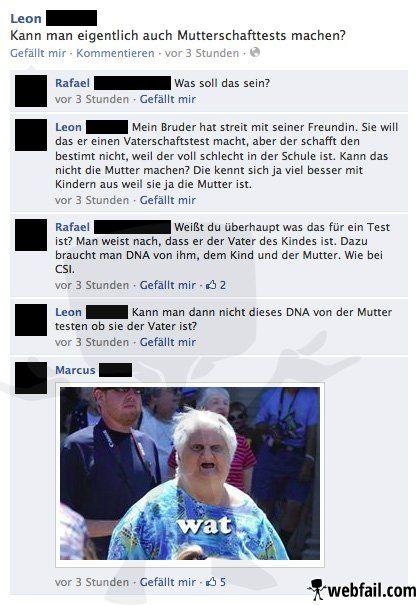Der Mutterschaftstest - Facebook WTF des Tages 17.03.2014 | Webfail - Fail Bilder und Fail Videos