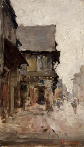 Nicolae Grigorescu (1838 - 1904)   Impressionism   Case la vitre